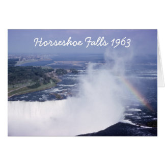Horseshoe Falls with Rainbow Greeting Card