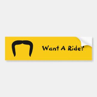 Horseshoe Mustache Bumper Sticker