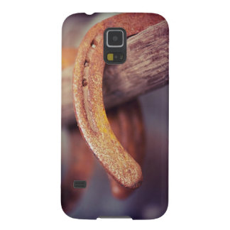 Horseshoes on Barn Wood Cowboy Country Western Galaxy S5 Case