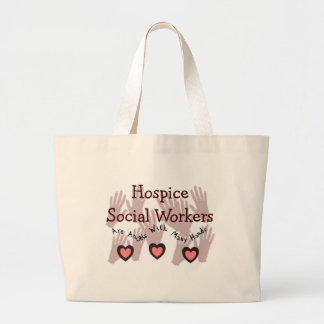 "Hospice Social Workers ""Angels With Many Hands"" Large Tote Bag"