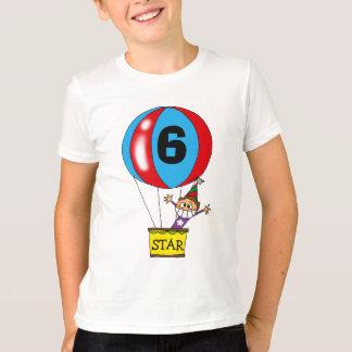 Hot air balloon 6th birthday party T-Shirt