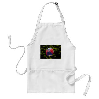 Hot Air Balloon Ballooning Above The Trees Standard Apron