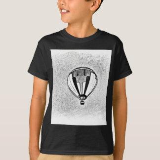 Hot Air Balloon Black And White T-Shirt