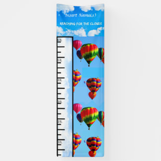 Hot Air Balloon Grow Chart Banner