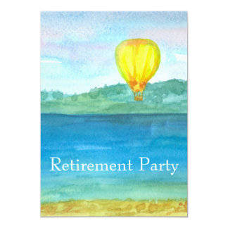 Hot Air Balloon Retirement Party Invitation