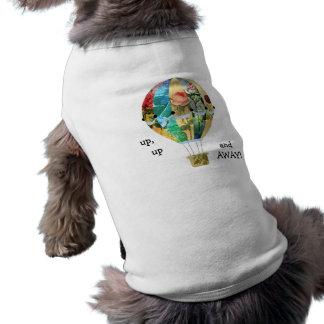 Hot Air Balloon Rose Collage Flowers Pet Tshirt