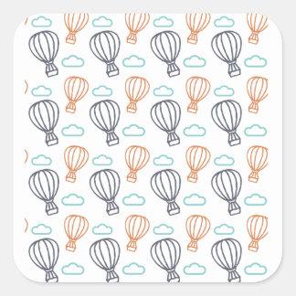 Hot Air Balloon Square Sticker