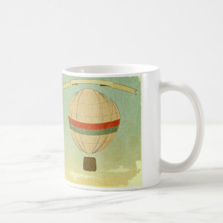 Hot Air Balloon to Freedom Basic White Mug