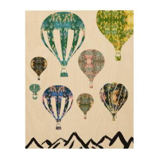 Hot Air Balloons   Graffiti Photography Art Wood Print