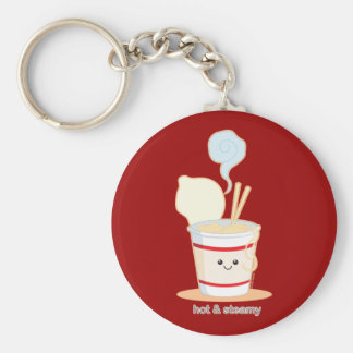 Hot and Steamy Basic Round Button Key Ring