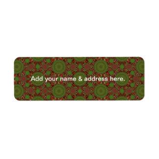 Hot Chile Christmas Mandala Array Address Label