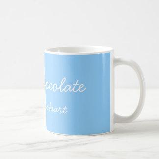 Hot chocolate blue mug