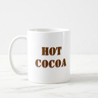 HOT COCOA white mug with chocolate text