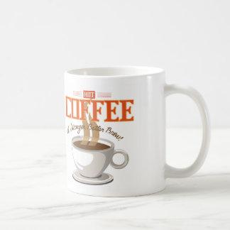 Hot Coffee Classic White Coffee Mug
