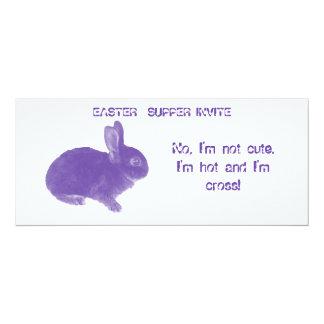 Hot Cross Bunny for Easter 10 Cm X 24 Cm Invitation Card