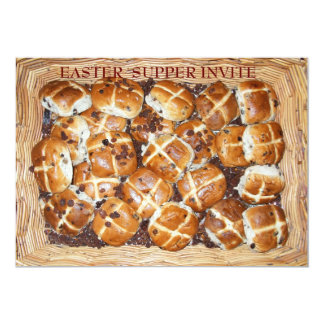 "Hot Cross Buns Easter Basket #1 5"" X 7"" Invitation Card"