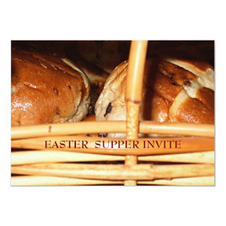 Hot Cross Buns Easter Basket #2 13 Cm X 18 Cm Invitation Card