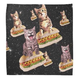 hot dog cat invasion bandannas
