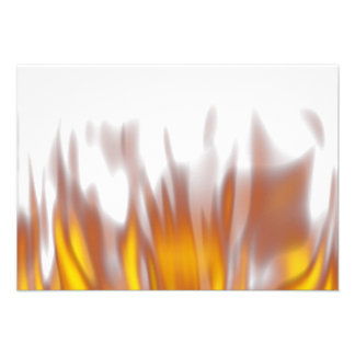 Hot Fiery Burning Flames Personalised Invitation