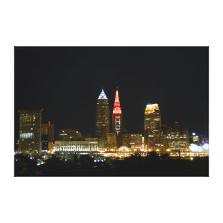 Hot in Cleveland Lights Cleveland OH Print Stretched Canvas Prints