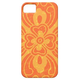 Hot Orange Floral Accent iPhone 5 Case