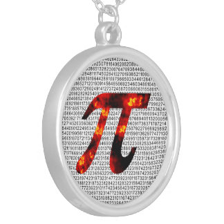 Hot Pi Silver Plated Necklace