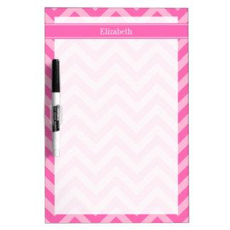 Hot Pink #2 Cotton Candy LG Chevron Name Monogram Dry Erase White Board