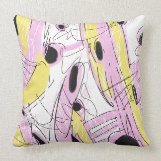 Hot Pink Abstract 001 Cushion