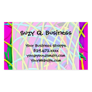 Hot Pink Abstract Girly Doodle Design Novelty Gift Pack Of Standard Business Cards