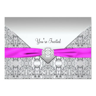 Hot Pink All Occasion Party Template Card