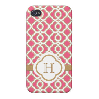 Hot Pink and Gold Moroccan iPhone 4 Cover