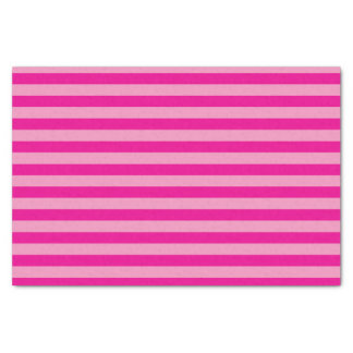 Hot Pink and Light Pink Stripes Tissue Paper