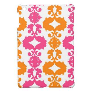 Hot Pink And Orange Damask iPad Mini Case