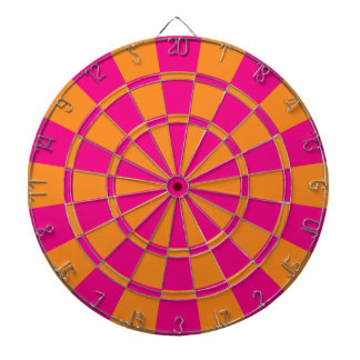 Hot Pink And Orange Dartboards