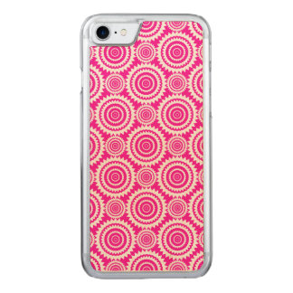 Hot Pink and White Geometric Kaleidoscope Pattern Carved iPhone 8/7 Case