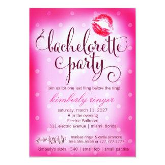 Hot Pink Bachelorette Party Invite