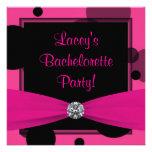 Hot Pink Bubbles Hot Pink Bachelorette Party Custom Invitation