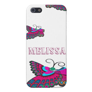 Hot Pink Butterfly Case For The iPhone 5