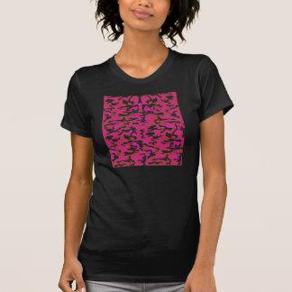 Hot pink camo pattern t shirts