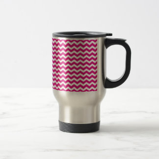 Hot Pink Chevron Mugs