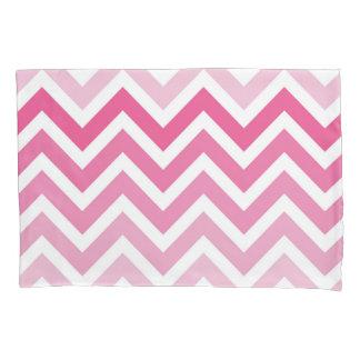 Hot Pink Chevron Ombre ZigZag Pattern Pillowcase