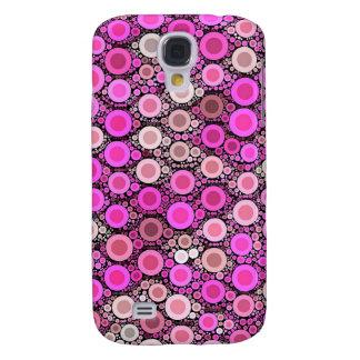 Hot Pink Cream Polka-dot Galaxy S4 Case