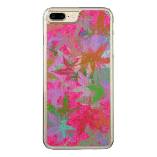 Hot Pink Foliage Carved iPhone 8 Plus/7 Plus Case