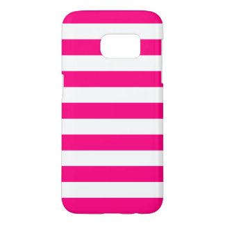 Hot Pink Galaxy S7 Cases - Nautical Stripe