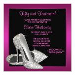 Hot Pink Glitter High Heels Womans 50th Birthday