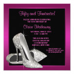 Hot Pink Glitter High Heels Womans Birthday Party