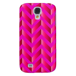 Hot Pink Gradient Chevron Galaxy S4 Case