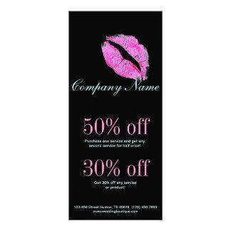 hot pink kiss Makeup Artist Business Custom Rack Cards