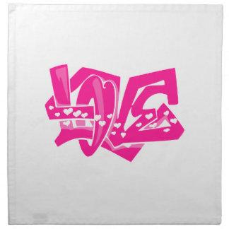 Hot Pink Love Graffiti Napkin