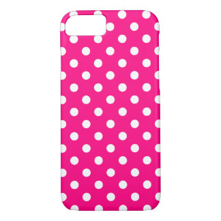 Hot Pink Polka Dot iPhone 7 Case